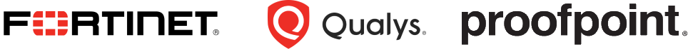 Logos Fortinet qualys proofpoint